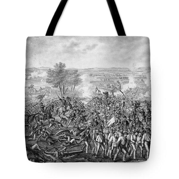 The Battle Of Gettysburg Tote Bag