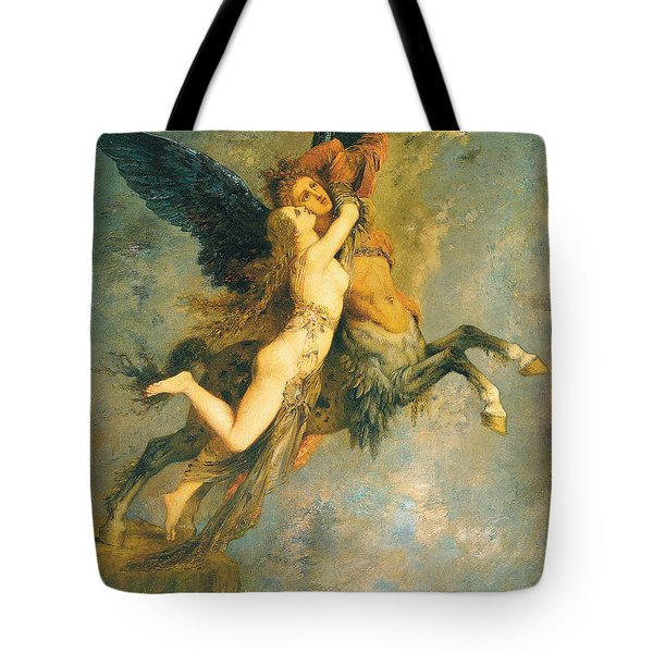 The Chimera Tote Bag by Gustave Moreau