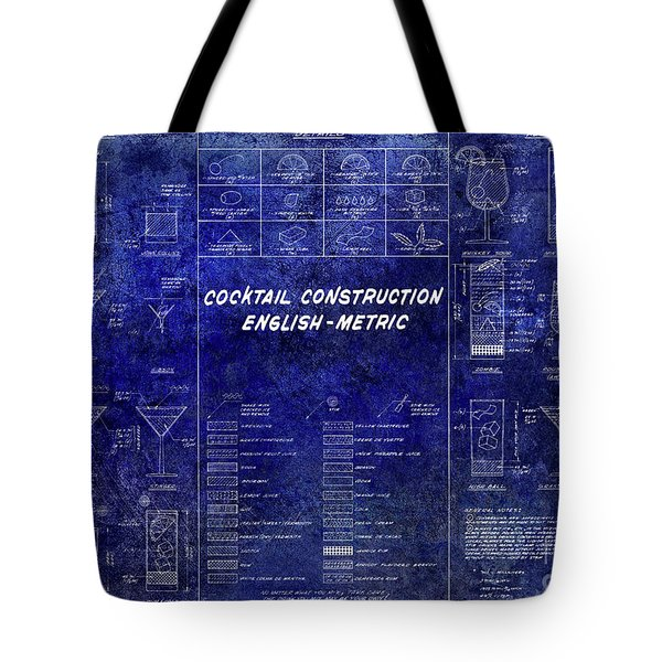 The Cocktail Construction Blueprint Tote Bag