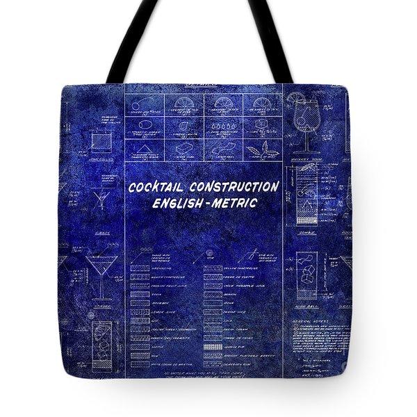 The Cocktail Construction Blueprint Tote Bag by Jon Neidert