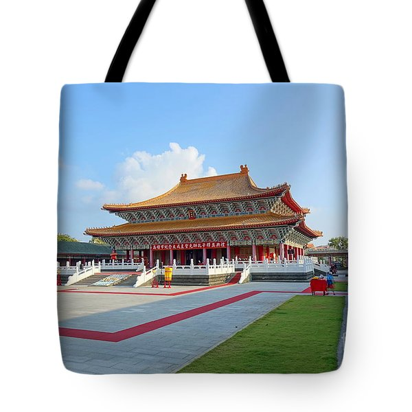 Tote Bag featuring the photograph The Confucius Temple In Kaohsiung, Taiwan by Yali Shi