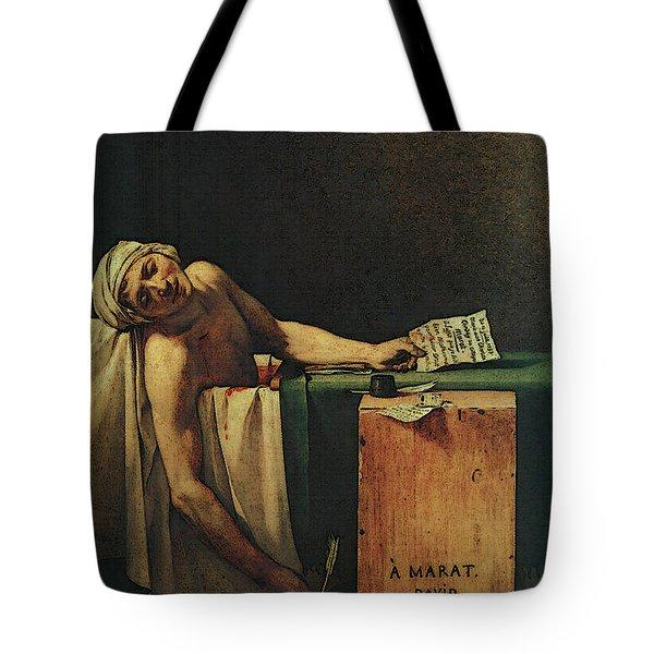 The Death Of Marat  Tote Bag