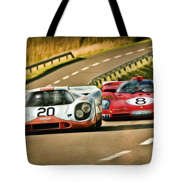 The Duel Tote Bag by Peter Chilelli