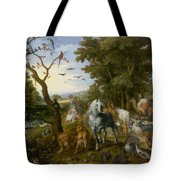 The Entry Of The Animals Into Noah's Ark Tote Bag