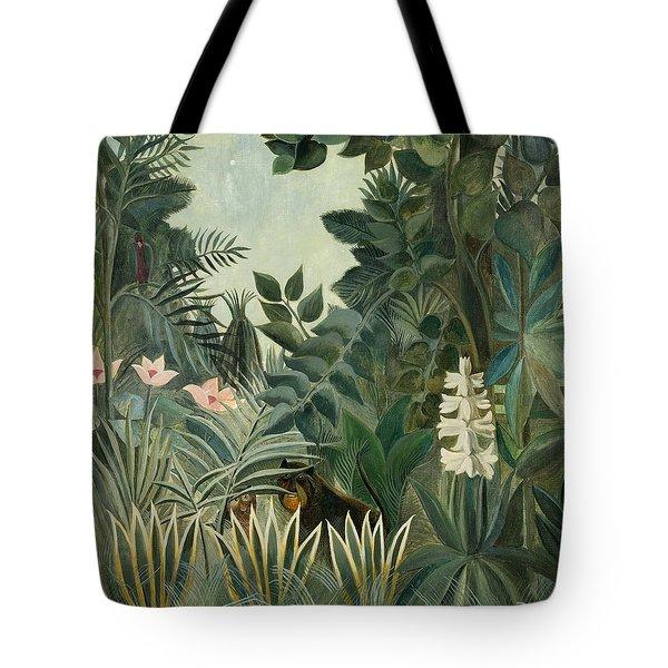 The Equatorial Jungle Tote Bag