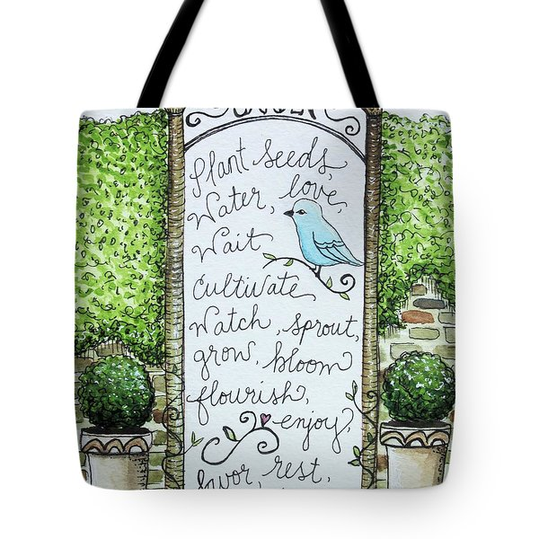 The Garden Tote Bag by Elizabeth Robinette Tyndall
