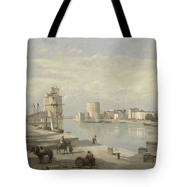 The Harbor Of La Rochelle Tote Bag by Jean Baptiste Camille Corot
