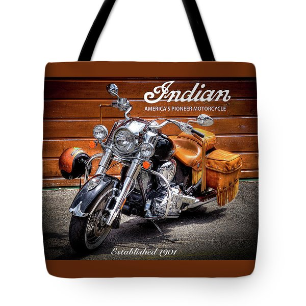 The Indian Motorcycle Tote Bag