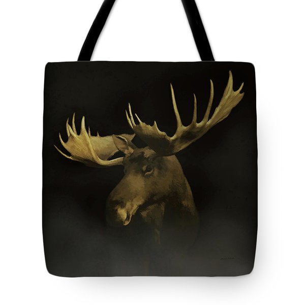 Tote Bag featuring the digital art The Moose by Ernie Echols