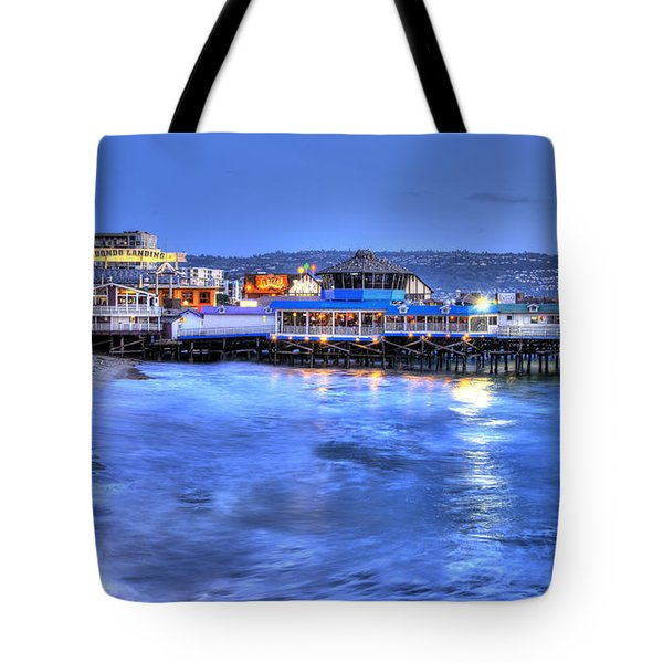 Redondo Landing At Night Tote Bag