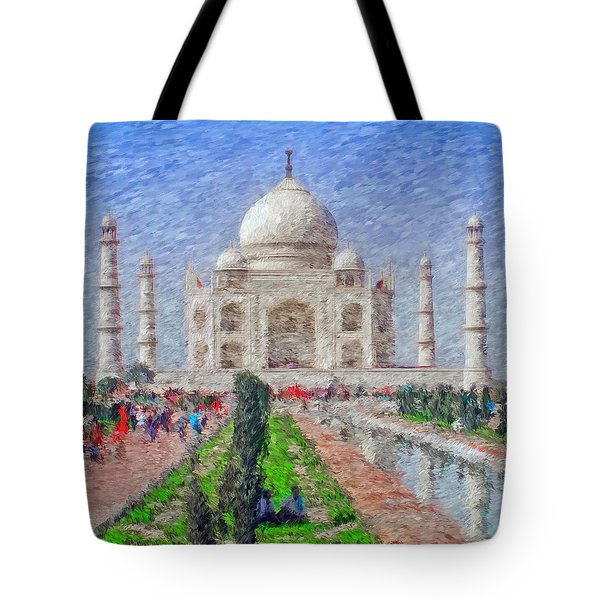 The Taj Mahal - Impressionist Style Tote Bag