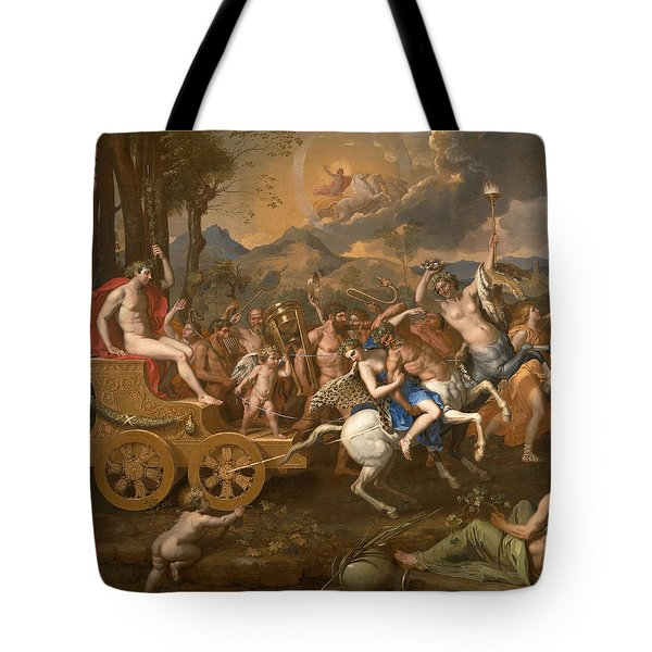 The Triumph Of Bacchus Tote Bag by Nicolas Poussin