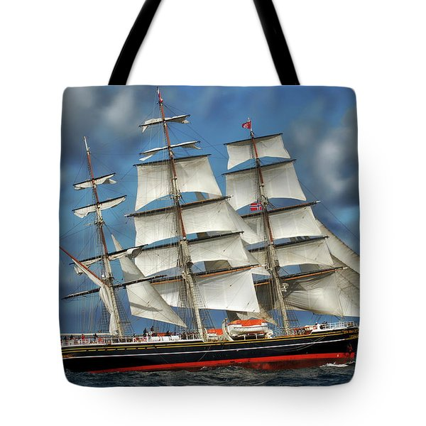 Three Mast Schooner Tote Bag