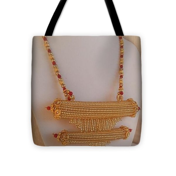 Traditional Yemenite Prayer Box Necklace Tote Bag by Nurit Tzubery