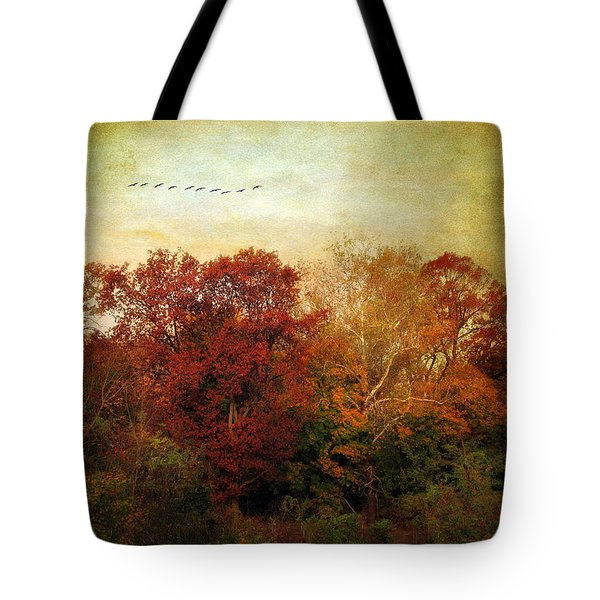 Treetops Tote Bag by Jessica Jenney