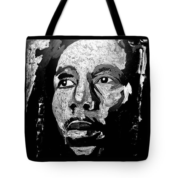 Tribute To Bob Marley Tote Bag