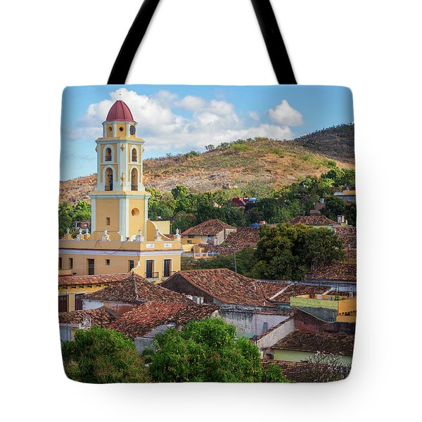 Tote Bag featuring the photograph Trinidad Cuba Cityscape II by Joan Carroll