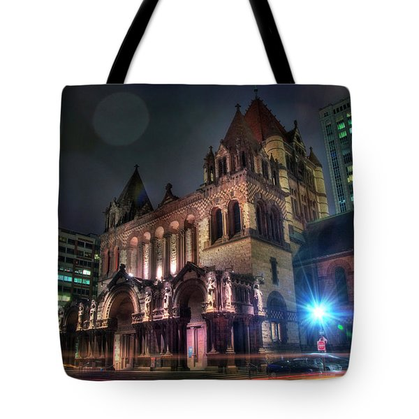 Tote Bag featuring the photograph Trinity Church - Copley Square Boston by Joann Vitali