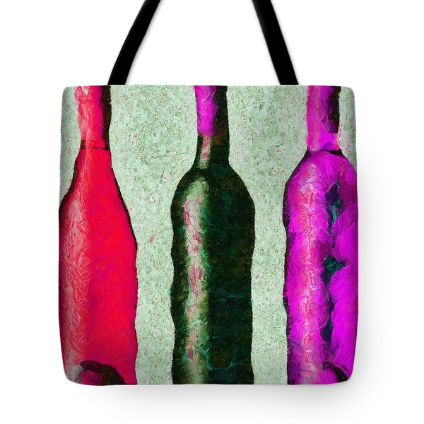 Tote Bag featuring the painting Trois Choix Savoureux.. by Sir Josef - Social Critic - ART