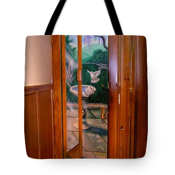 Tote Bag featuring the painting Trompe L'oeil  by Thomas Lupari