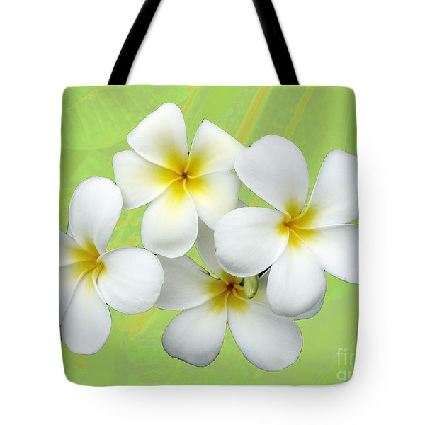 Tropical Frangrapani Tote Bag by Karen Lewis
