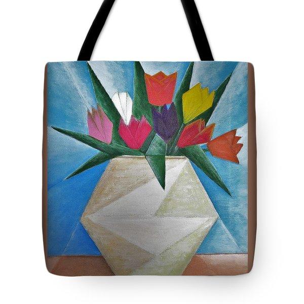 Tulips Tote Bag by Tamara Savchenko