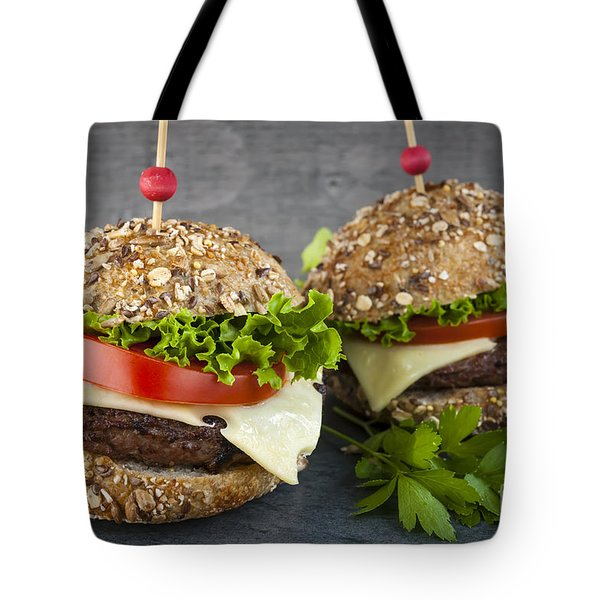 Two Gourmet Hamburgers Tote Bag
