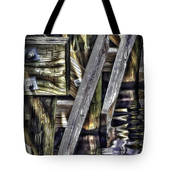 Under The Boardwalk Tote Bag by Walt Foegelle