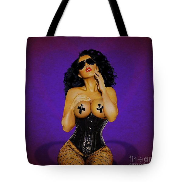 Tote Bag featuring the digital art Valentine by Brian Gibbs