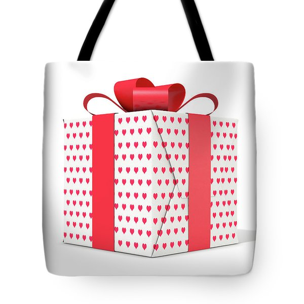 Valentines Day Cube Gift Tote Bag