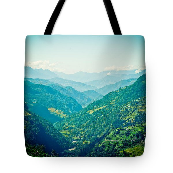 Valley Himalayas Mountain Nepal Tote Bag
