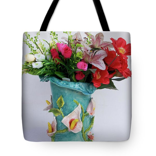 Vase, Rose Calla Tote Bag