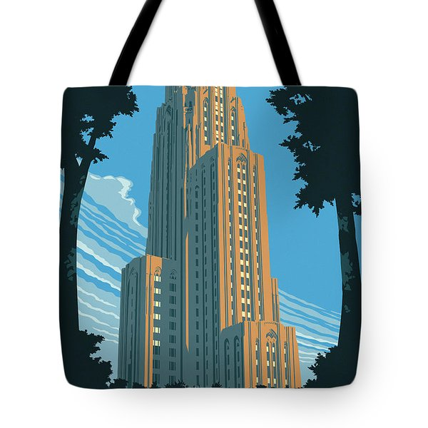 Pittsburgh Poster - Vintage Style Tote Bag