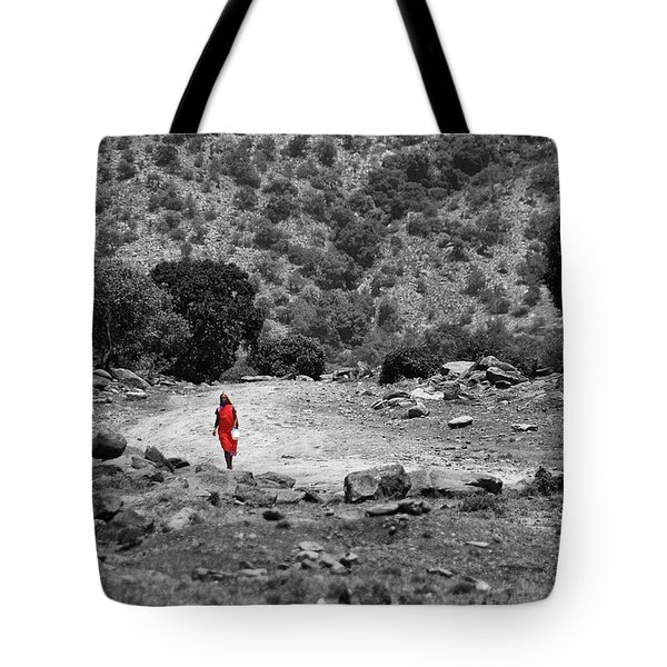 Tote Bag featuring the photograph Walk  by Charuhas Images