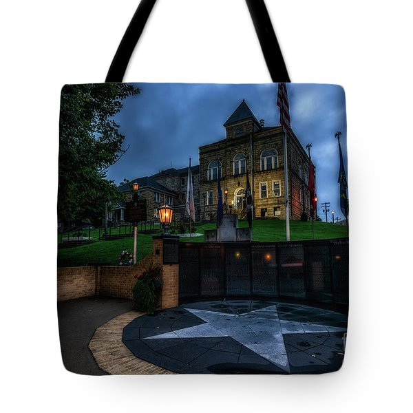 Tote Bag featuring the photograph Webster County Courthouse by Thomas R Fletcher