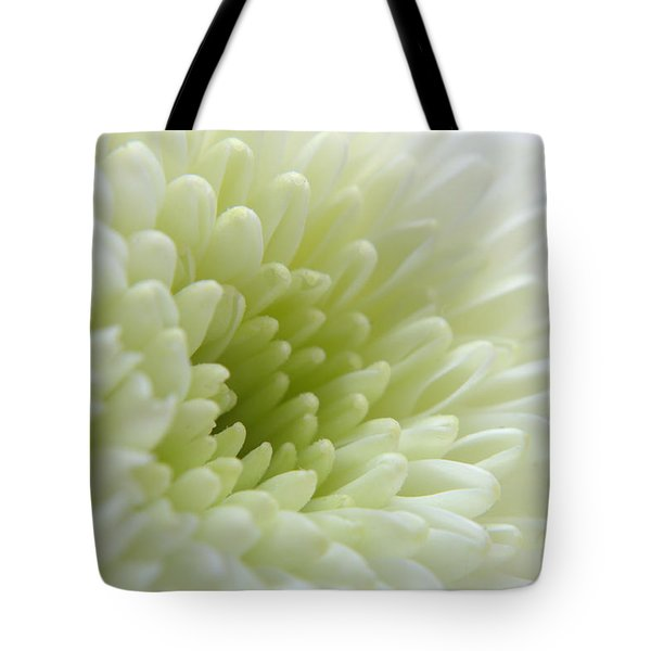 White Chrysanthemum Tote Bag