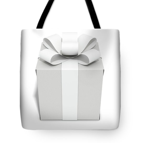 White On White Cube Gift Tote Bag