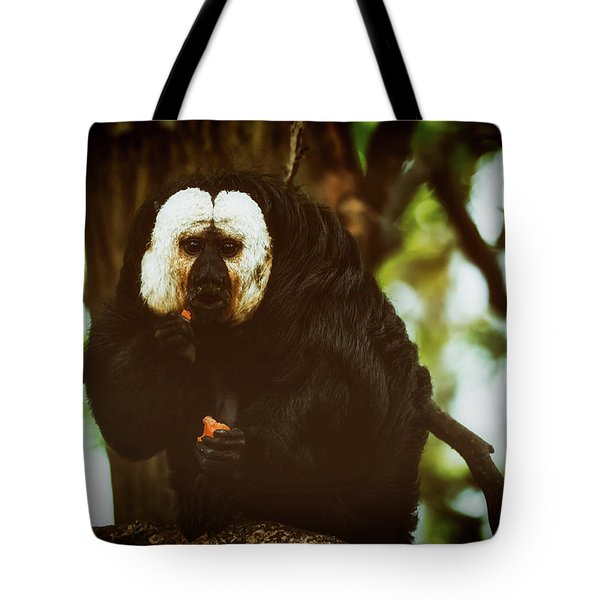 Tote Bag featuring the photograph White Saki by The 3 Cats