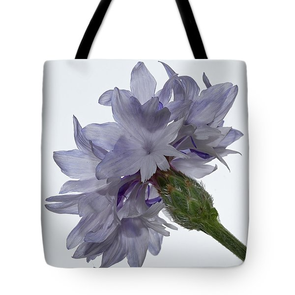 White With Blue Cornflower Tote Bag