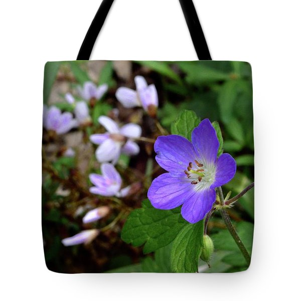 Wild Geranium Tote Bag by Tim Good