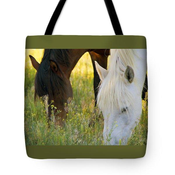 Wild Mustang Horses Tote Bag