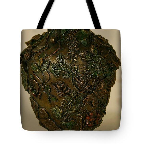 Wildflower Vase Detail Tote Bag by Dawn Senior-Trask