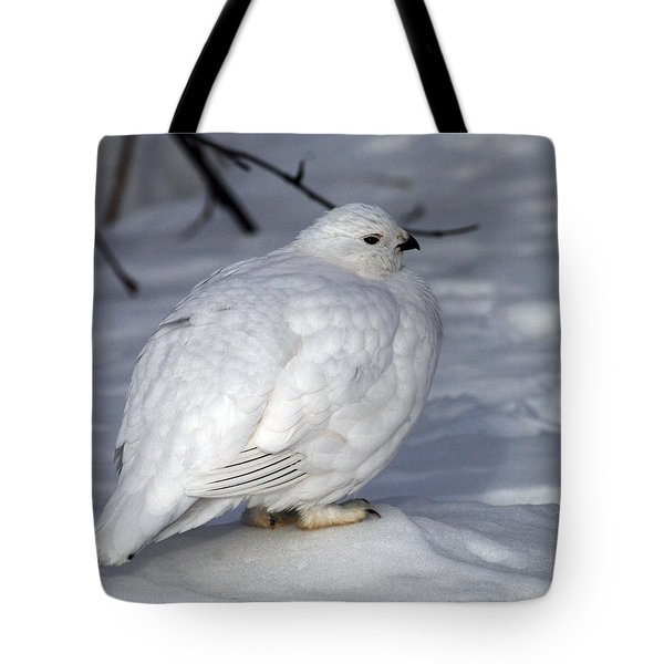 Willow Ptarmigan Tote Bag