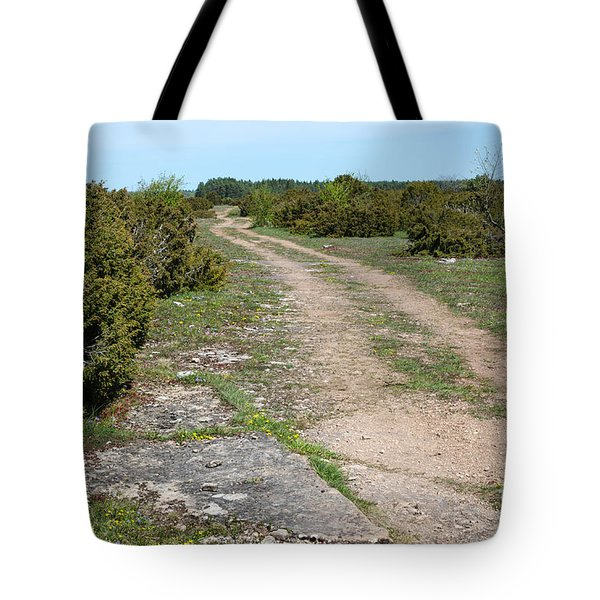 Tote Bag featuring the photograph Winding Dirt Road by Kennerth and Birgitta Kullman