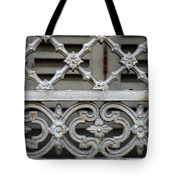 Tote Bag featuring the photograph Window Grill In Toulouse by Elena Elisseeva