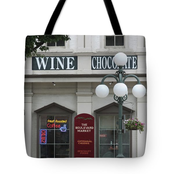 Wine And Chocolate Tote Bag