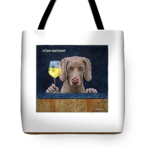 Wine-maraner Tote Bag