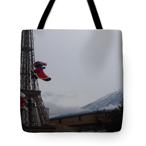 Winter Amusement Park Tote Bag