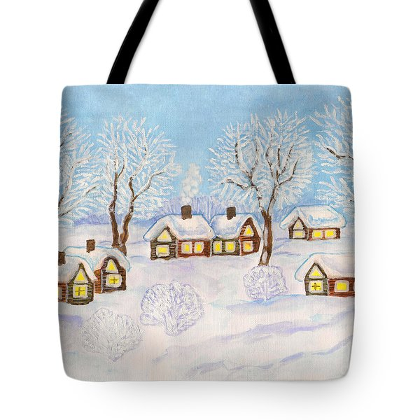 Winter Landscape, Painting Tote Bag
