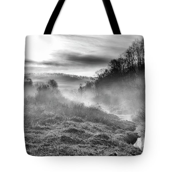 Tote Bag featuring the photograph Winter Mist by Thomas R Fletcher